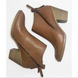 DV Dolce Vita Brown Zipper Ankle Boots Size 8.5